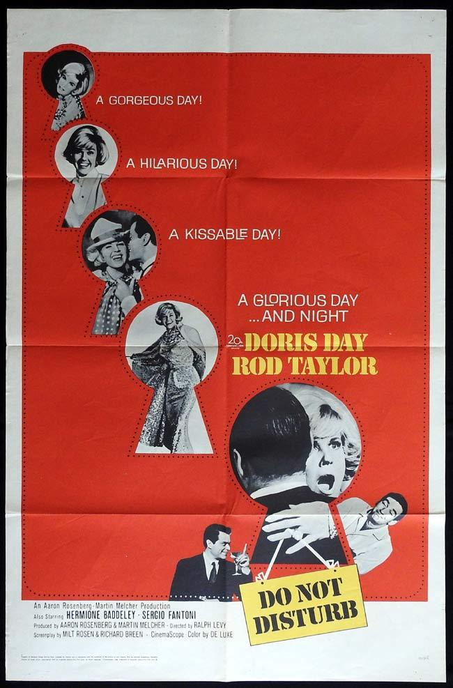 DO NOT DISTURB Original US One sheet Movie Poster Doris Day Rod Taylor