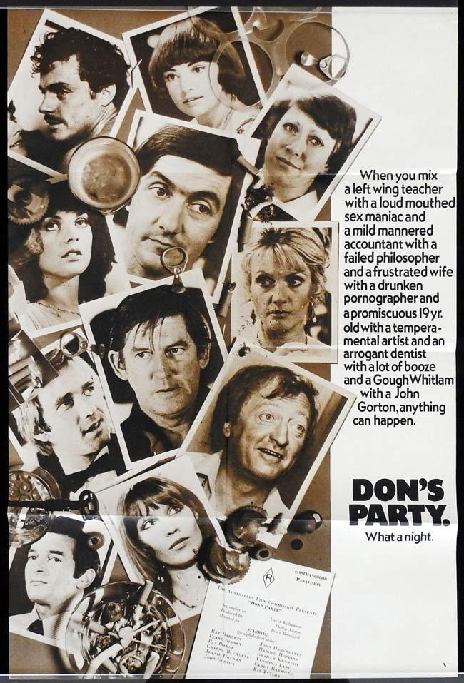 DON'S PARTY One sheet Movie poster GRAHAM KENNEDY John Hargreaves