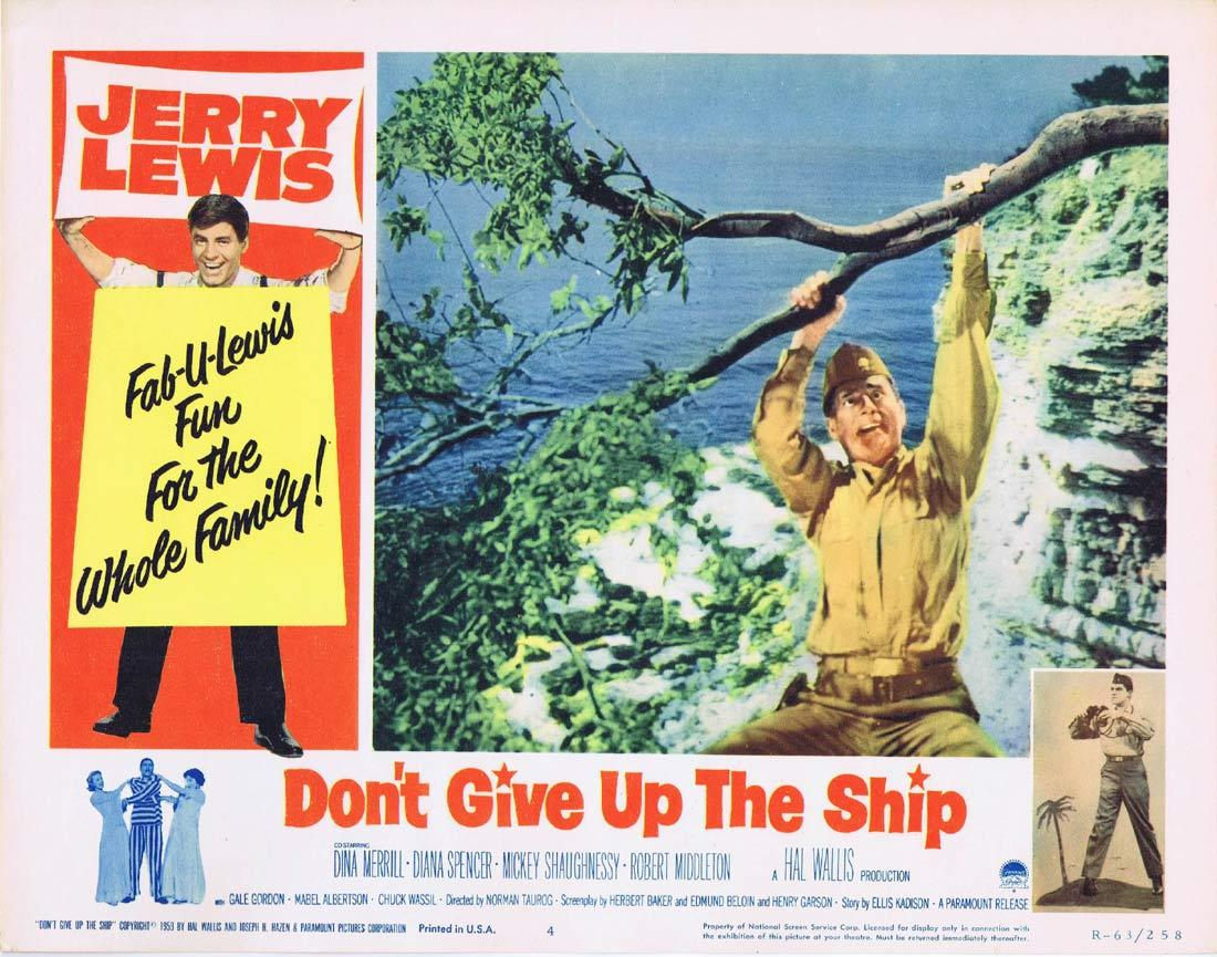 DONT GIVE UP THE SHIP Lobby Card 4 Jerry Lewis Dina Merrill Diana Spencer 1963 release