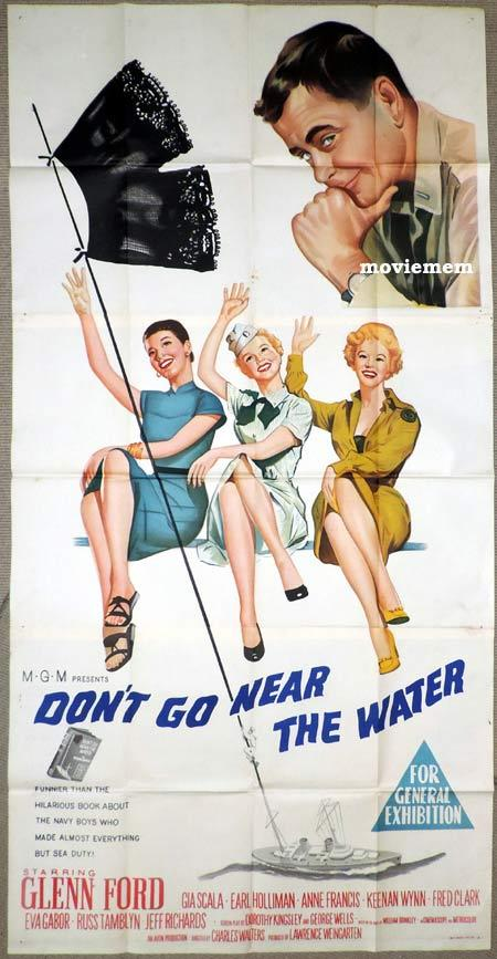 DON'T GO NEAR THE WATER Original 3 Sheet Movie Poster Glenn Ford