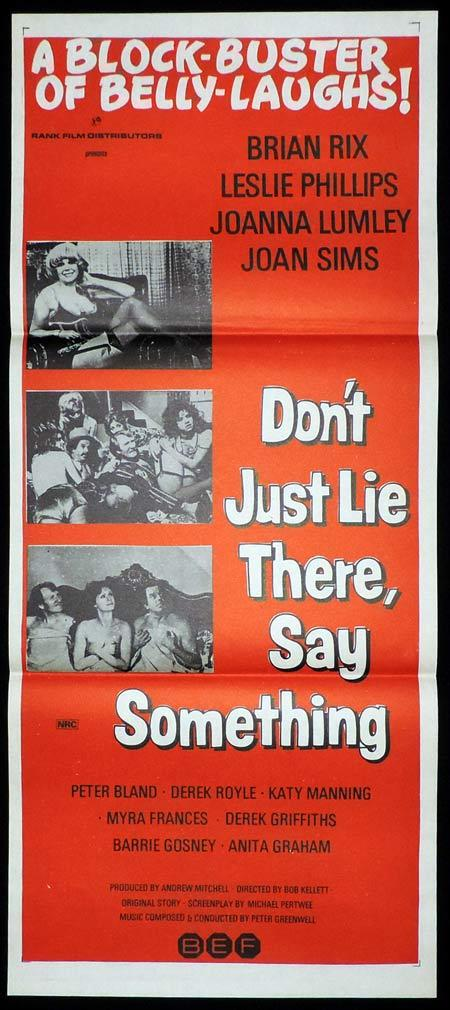 DON'T JUST LIE THERE SAY SOMETHING Original Daybill Movie Poster Leslie Phillips British Comedy