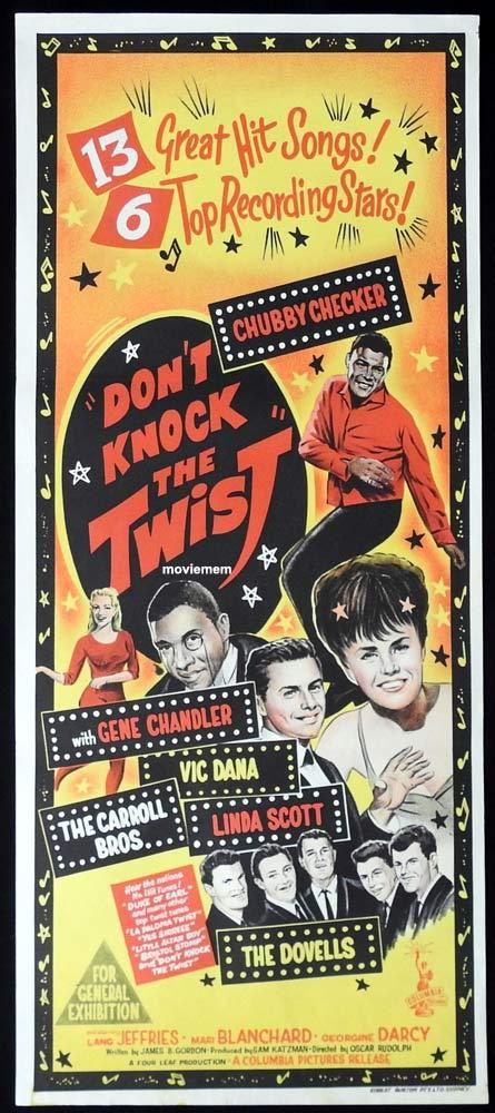 DON'T KNOCK THE TWIST Daybill Movie Poster Chubby Checker