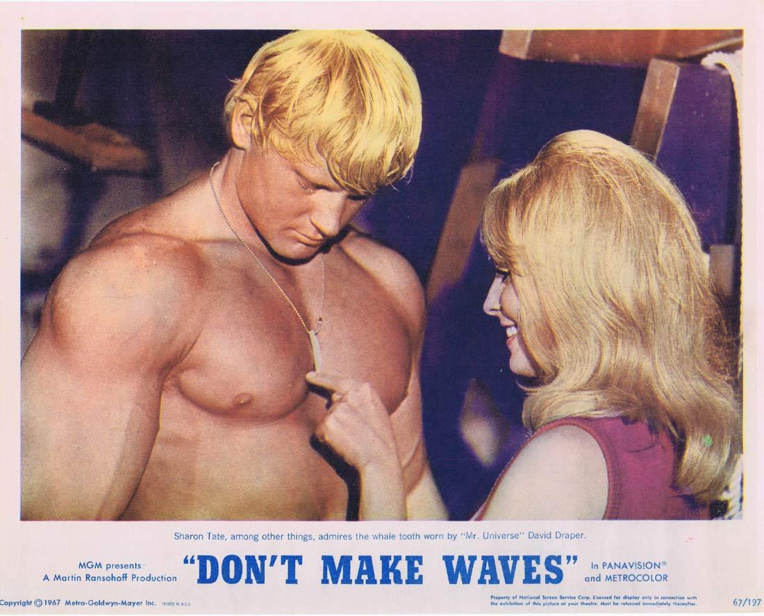 DONT MAKE WAVES Lobby Card 7 Tony Curtis SURFING Claudia Cardinale Sharon Tate