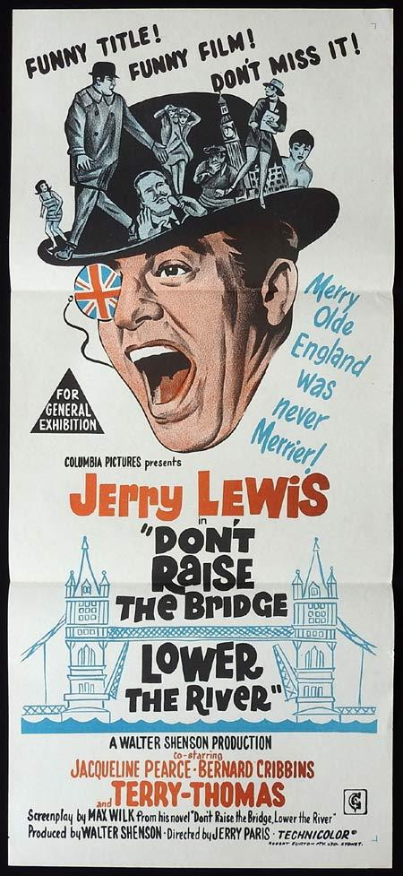 DONT RAISE THE BRIDGE LOWER THE RIVER Original Daybill Movie Poster