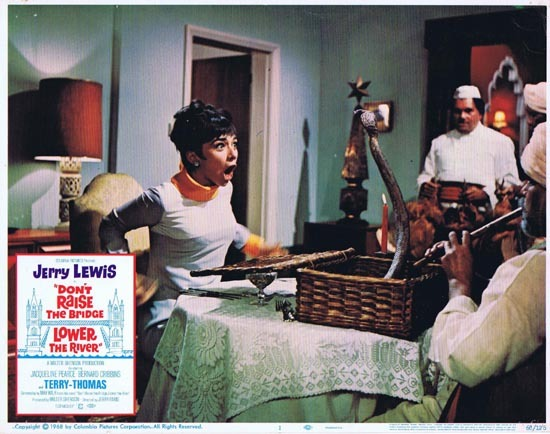 DONT RAISE THE BRIDGE LOWER THE RIVER Lobby Card 1 1967 Jerry Lewis