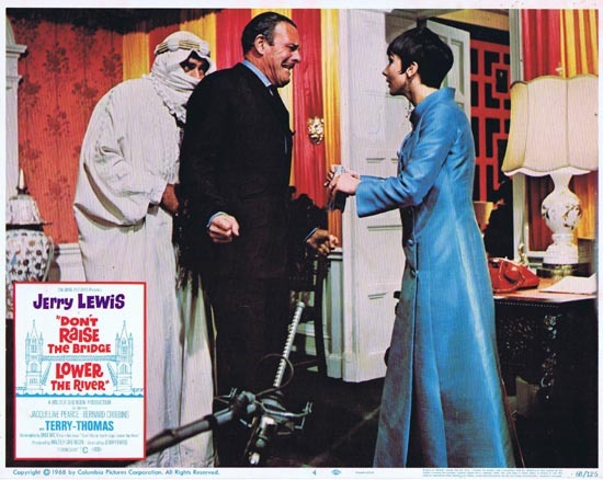 DONT RAISE THE BRIDGE LOWER THE RIVER Lobby Card 4 1967 Jerry Lewis