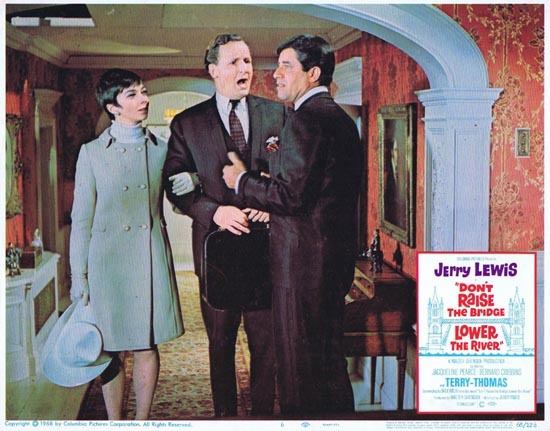 DONT RAISE THE BRIDGE LOWER THE RIVER Lobby Card 6 1967 Jerry Lewis