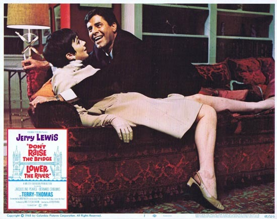 DONT RAISE THE BRIDGE LOWER THE RIVER Lobby Card 7 1967 Jerry Lewis