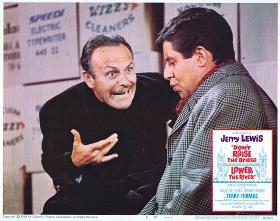 DONT RAISE THE BRIDGE LOWER THE RIVER Lobby Card 8 1967 Jerry Lewis