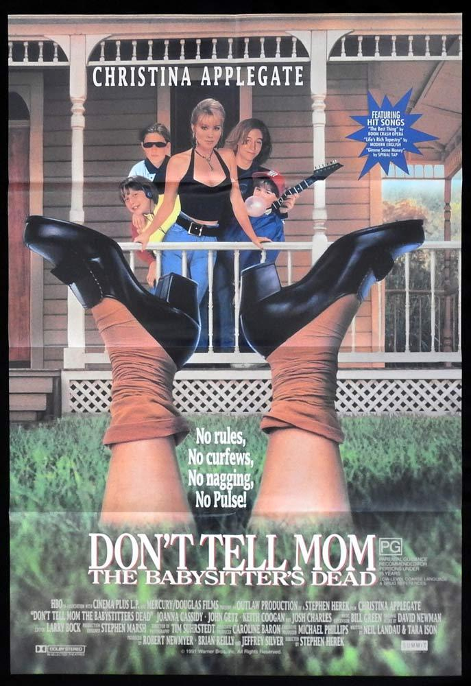 DON'T TELL MOM THE BABYSITTERS DEAD One sheet poster