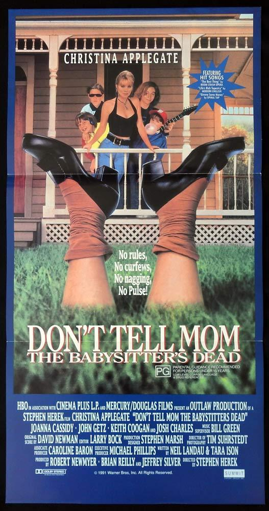 DON'T TELL MOM THE BABYSITTERS DEAD 1991 daybill poster