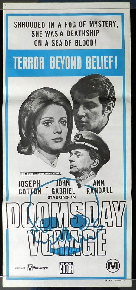 DOOMSDAY VOYAGE Original Daybill Movie Poster Joseph Cotten John Gabriel Anne Randall