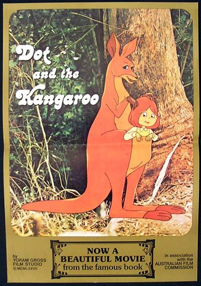 DOT AND THE KANGAROO 1977 Rare Australian Mini Daybill Movie poster