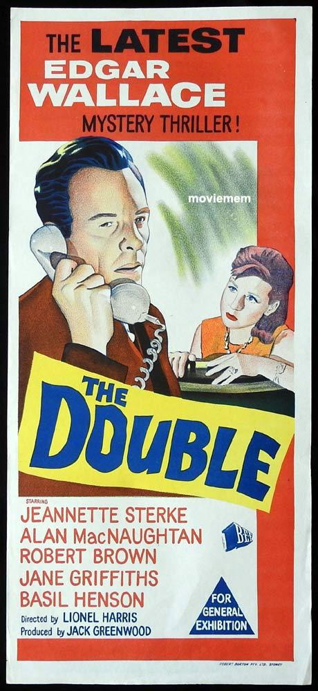 THE DOUBLE Daybill Movie poster Edgar Wallace Theatre