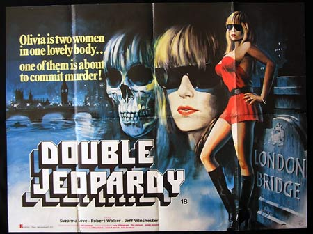 DOUBLE JEOPARDY aka OLIVIA '83-Suzanna Love BRITISH QUAD poster