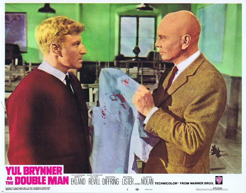 THE DOUBLE MAN Lobby Card 3 Yul Brynner Britt Ekland Clive Revill