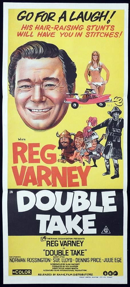 DOUBLE TAKE Original Daybill Movie poster Reg Varney Sue Lloyd Dennis Price