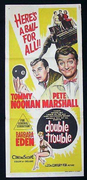 DOUBLE TROUBLE aka SWINGIN ALONG 1961 Noonan Marshall Daybill Movie Poster