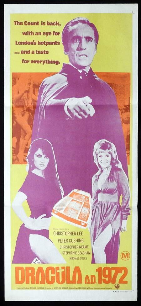 DRACULA AD 1972 Original Daybill Movie poster Christopher Lee Hammer
