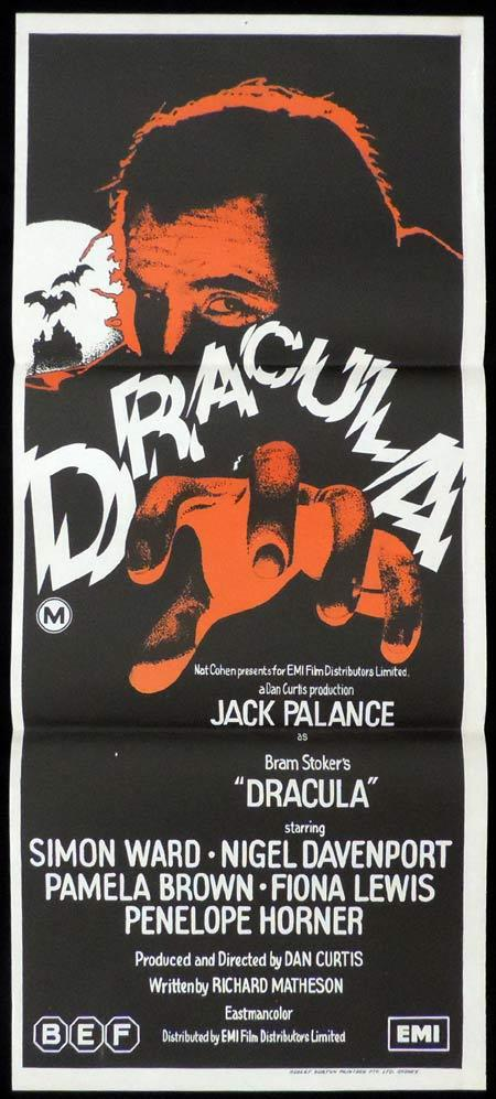 DRACULA Original Daybill Movie Poster Jack Palance Horror