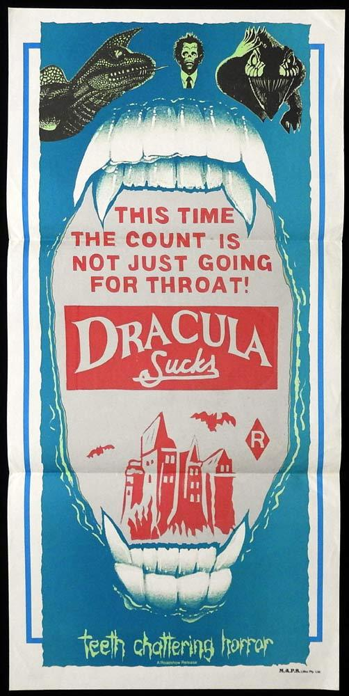 DRACULA SUCKS Original Stock Daybill Movie poster Jamie Gillis Annette Haven