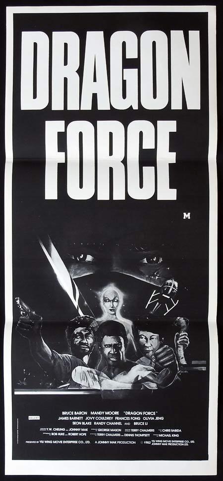 DRAGON FORCE Original daybill Movie Poster Bruce Barron Mandy Moore