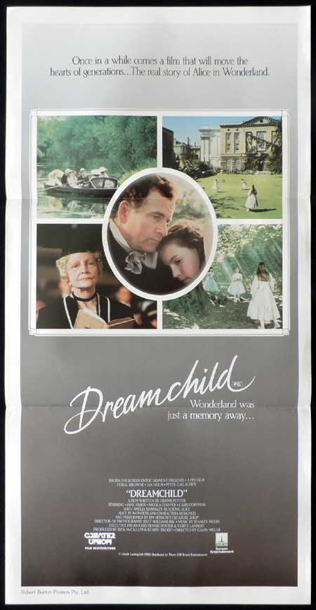 DREAM CHILD, Original, Australian Daybill, Movie poster, Coral Browne, Ian Holm, Jane Asher