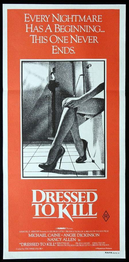 DRESSED TO KILL Original Daybill Movie Poster Angie Dickinson Michael Caine