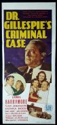 DR GILLESPIE'S CRIMINAL CASE Original Daybill Movie Poster Lionel Barrymore Marchant Graphics