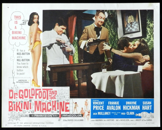 DR GOLDFOOT AND THE BIKINI MACHINE 1965 Vincent Price Lobby Card 3
