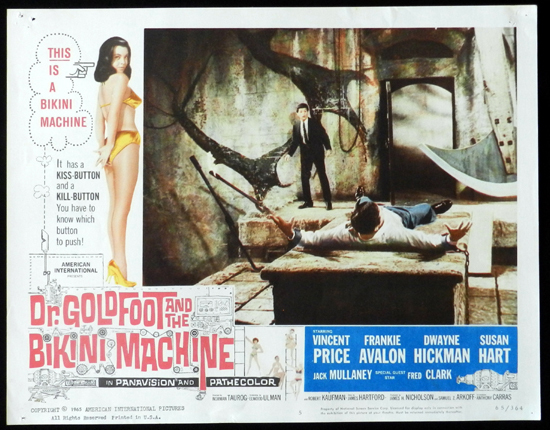 DR GOLDFOOT AND THE BIKINI MACHINE 1965 Vincent Price Lobby Card 5