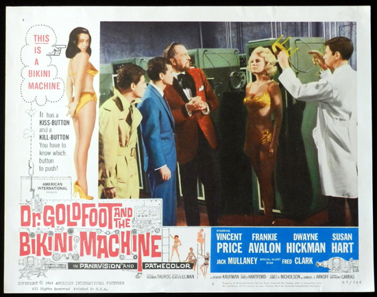 DR GOLDFOOT AND THE BIKINI MACHINE 1965 Vincent Price Lobby Card 6