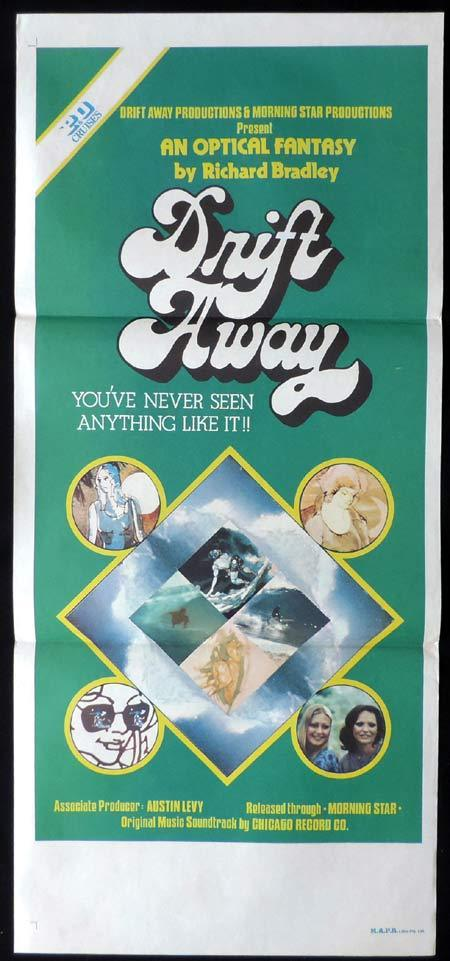 DRIFT AWAY Original Daybill Movie Poster Surfing Film