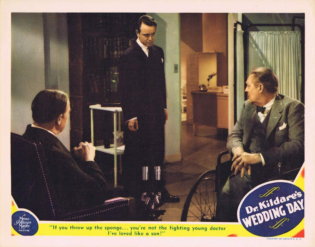 DR KILDARE'S WEDDING DAY Original Lobby Card 3 Lew Ayres Lionel Barrymore Laraine Day
