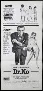 DR NO Original 70sr Daybill Movie poster Sean Connery James Bond 007 BW