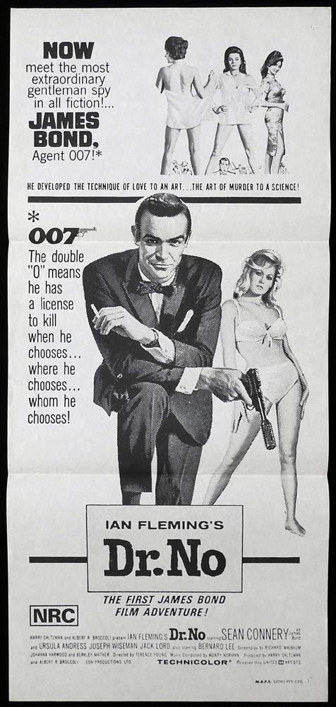 DR NO Original 70sr Daybill Movie poster Sean Connery James Bond 007