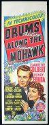 DRUMS ALONG THE MOHAWK Long Daybill Movie Poster 1939 John Ford Henry Fonda