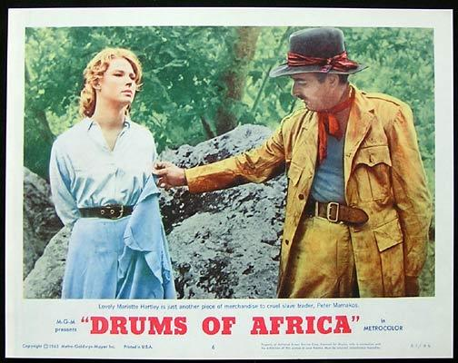 DRUMS OF AFRICA 1963 Lobby card 6 Frankie Avalon Lloyd Bochner
