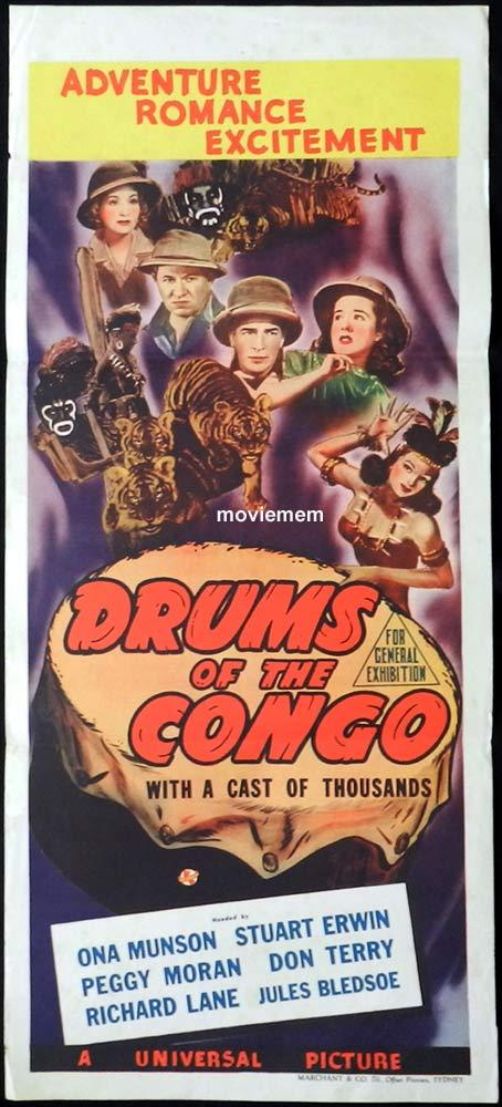 DRUMS OF THE CONGO Original Daybill Movie Poster Ona Munson Marchant Graphics