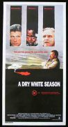 A DRY WHITE SEASON Daybill Movie poster 1989 Donald Sutherland