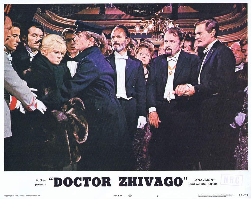DR ZHIVAGO Lobby Card 7 1972r Julie Christie Omar Sharif