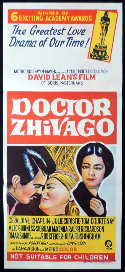 DOCTOR ZHIVAGO Daybill Movie poster Julie Christie Omar Sharif