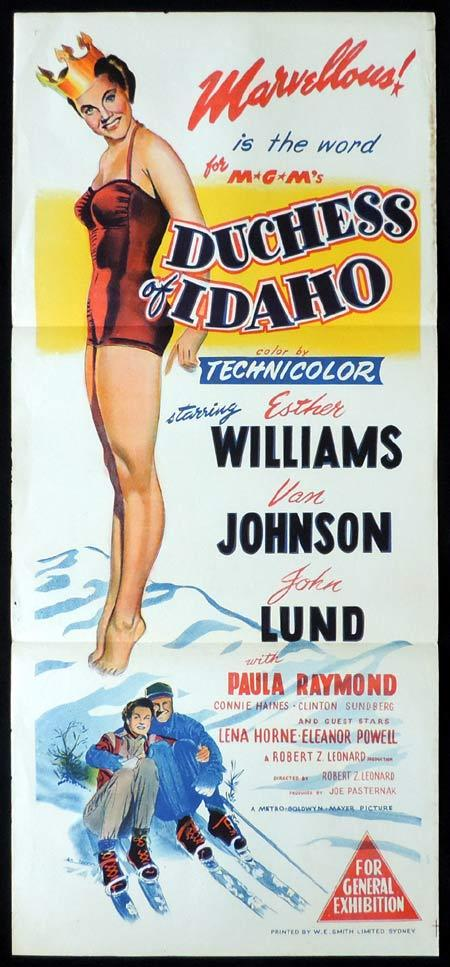 DUCHESS OF IDAHO Original Daybill Movie Poster Esther Williams
