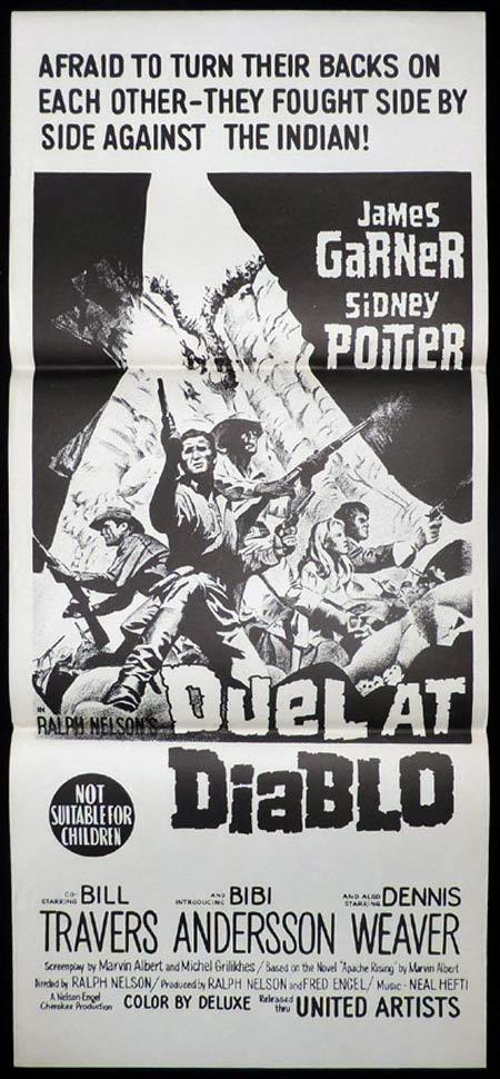 DUEL AT DIABLO Original Daybill Movie Poster James Garner Sidney Poitier