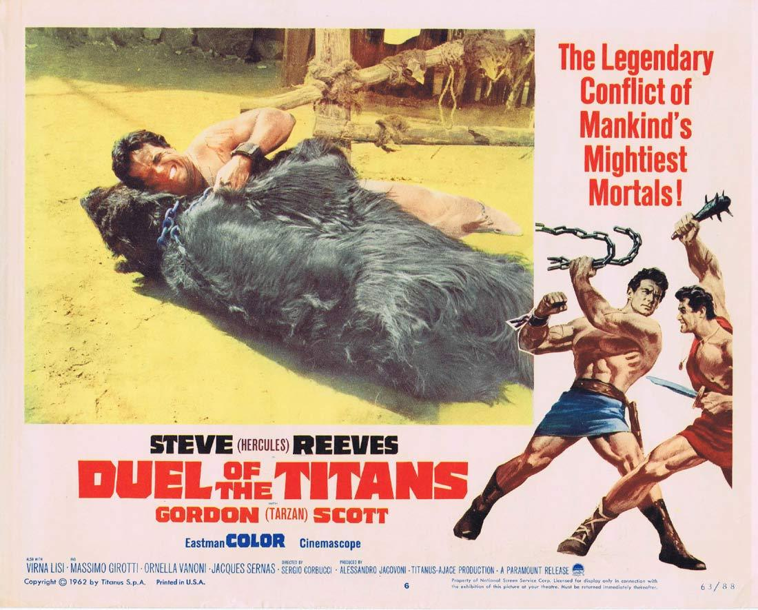 DUEL OF THE TITANS Lobby Card 6 Gordon Scott Steve Reeves