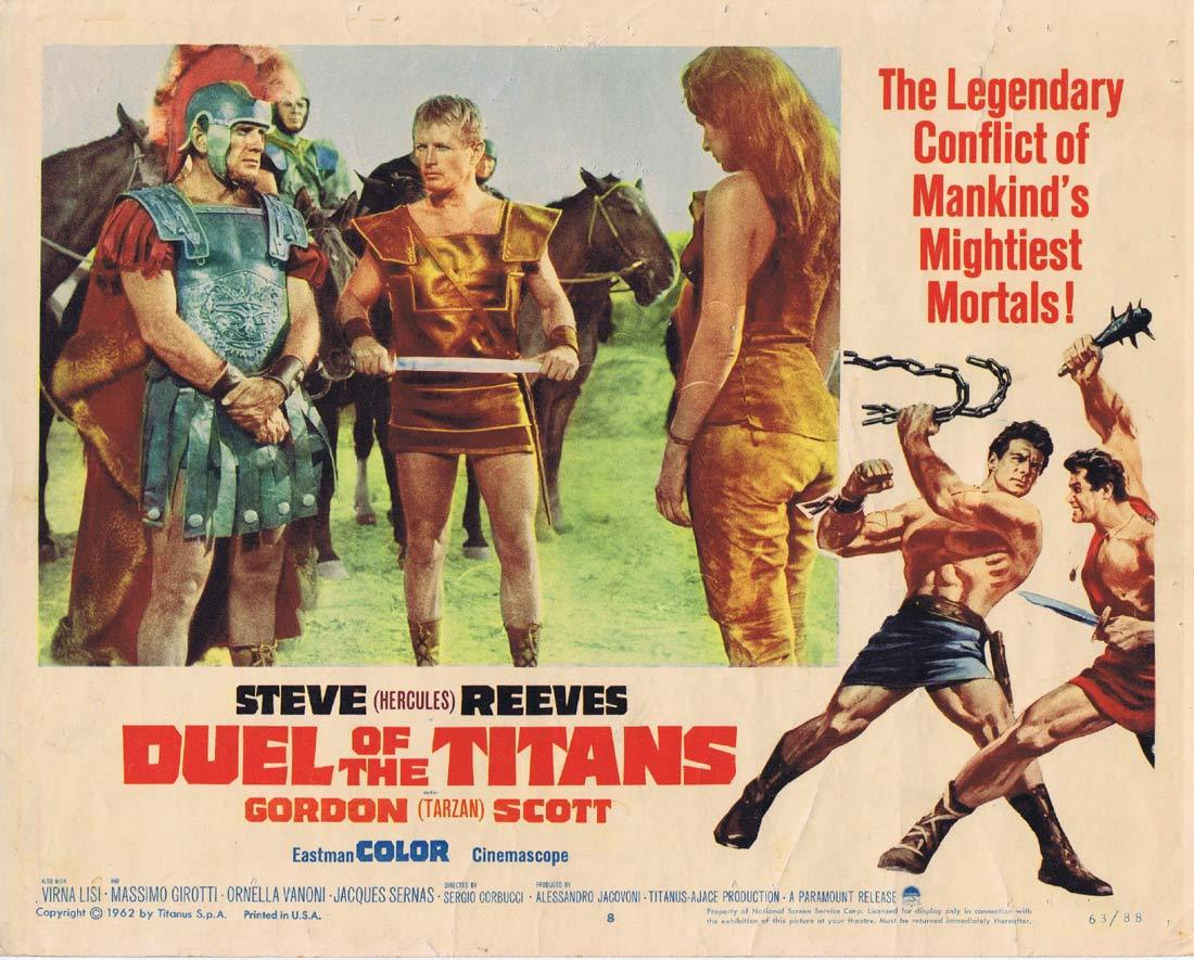 DUEL OF THE TITANS Lobby Card 8 Gordon Scott Steve Reeves