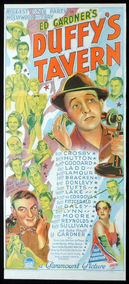 DUFFY'S TAVERN Original Daybill Movie Poster BING CROSBY Richardson Studio