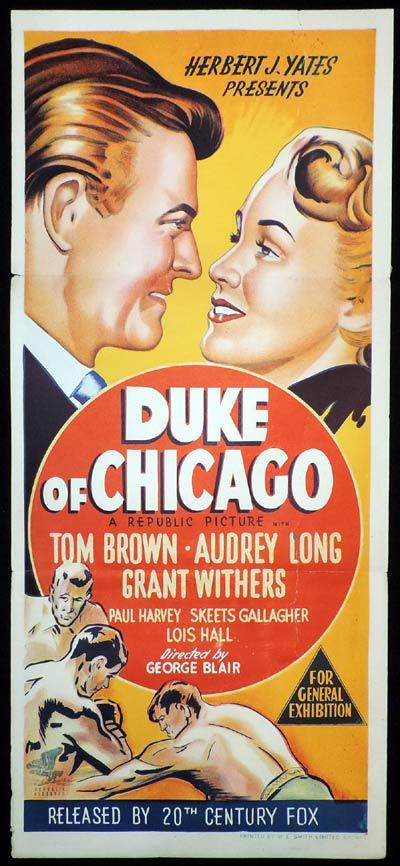 DUKE OF CHICAGO Daybill Movie Poster Audrey Long