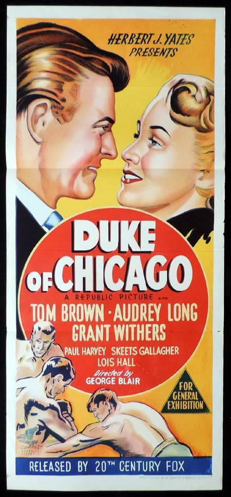 DUKE OF CHICAGO Original Daybill Movie Poster Audrey Long Tom Brown