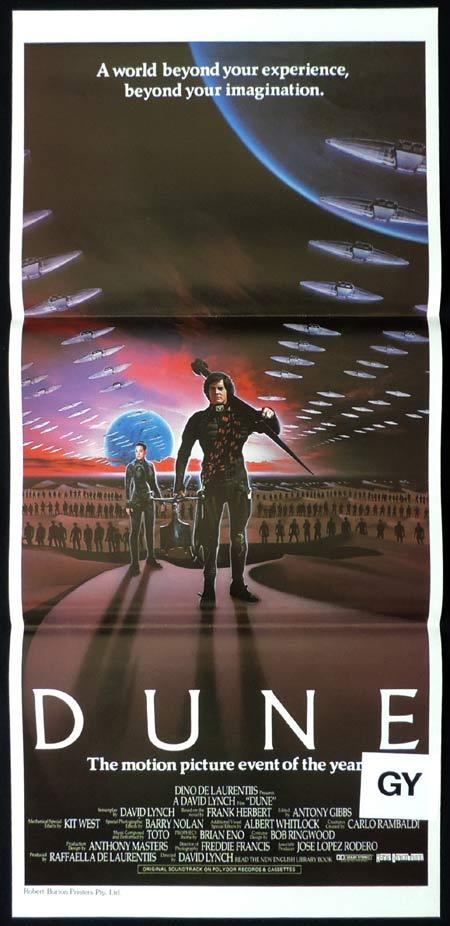 DUNE Daybill Movie Poster 1984 Francesca Annis David Lynch